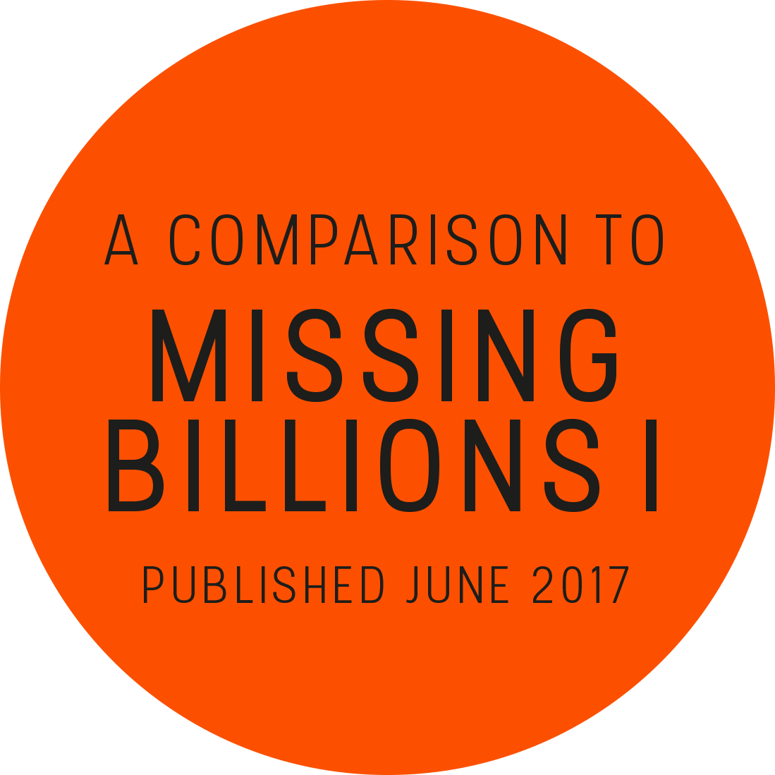 A comparison to Missing Billions I